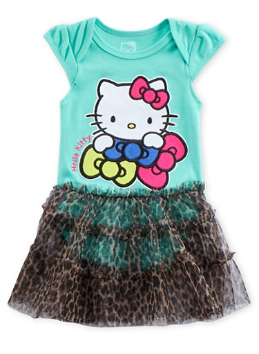 Baby Girl Hello Kitty Bodysuit with Tutu,MINT,large