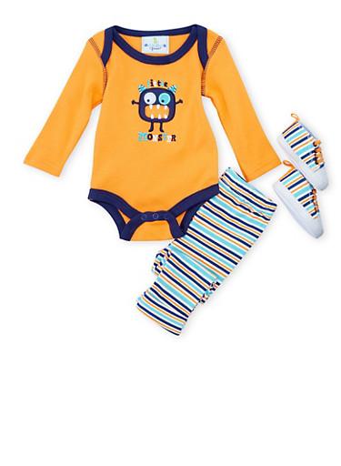 Baby Boy 3-Piece Set,ORANGE,large