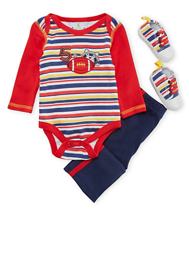 Baby Boy 3-Piece Set,RED,large
