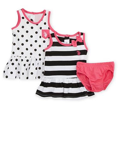 Baby Girl Dresses and Panty Set,BLACK,large