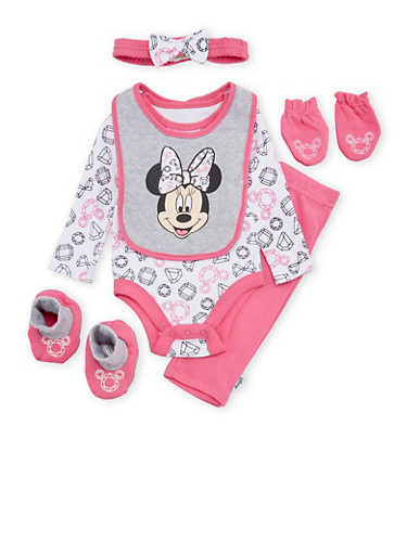 Baby Girl Minnie Mouse 6 Piece Set,PINK,large