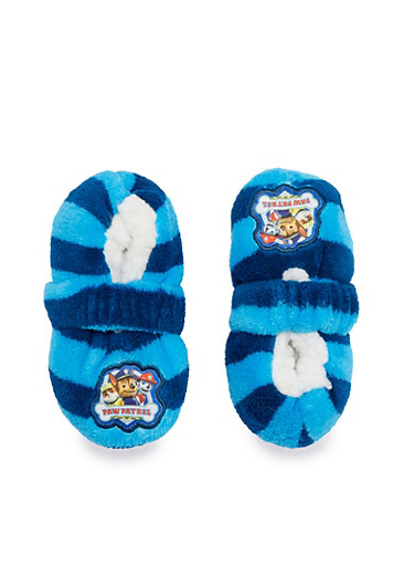 Boys Cartoon Character Slippers,NAVY,large