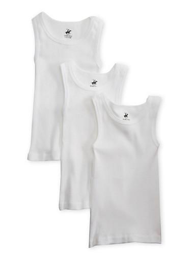 Toddler Boys Pack of 3 Undershirts,WHITE,large