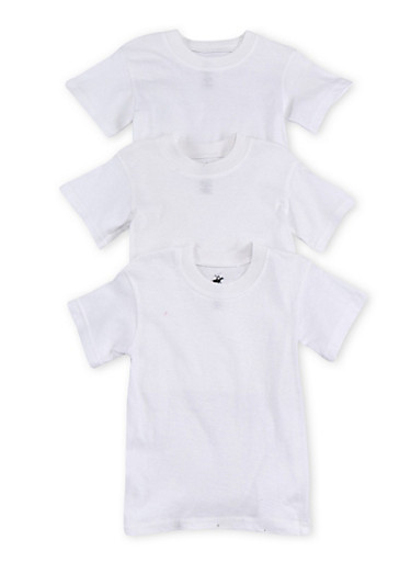 Toddler Boys Crew Neck Tee 3 Pack,WHITE,large