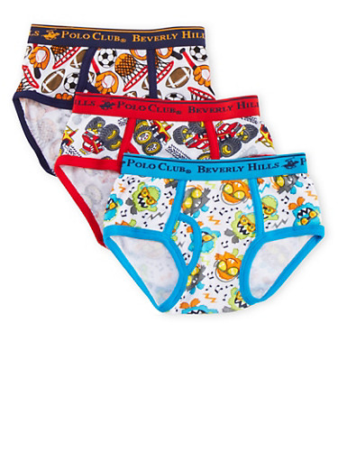 Toddler Boys BHPC Briefs 3 Pack,RED,large