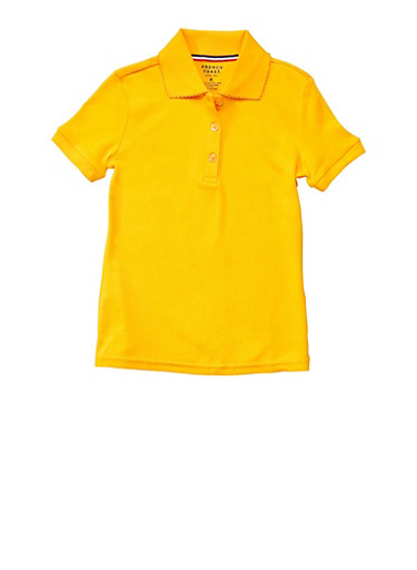Girls 4-6x Short Sleeve Interlock Polo School Uniform at Rainbow Shops in Daytona Beach, FL | Tuggl