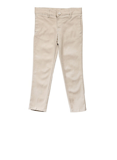 Girls 4-6X Skinny Stretch Twill Pant School Uniform,KHAKI,large