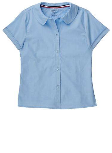 Girls 7-14 Short Sleeve Peter Pan School Uniform Blouse at Rainbow Shops in Daytona Beach, FL | Tuggl