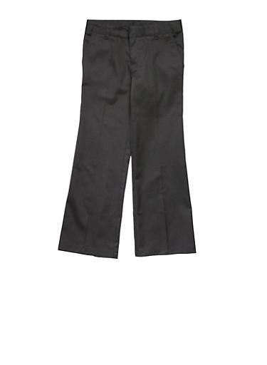 Girls 16-20 Adjustable Waist Pant School Uniform,BLACK,large