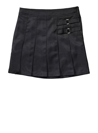 Girls Plus Size Two Tab Scooter School Uniform,BLACK,large