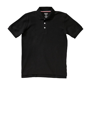 Boys 4-7 Short Sleeve Pique Polo School Uniform,BLACK,large