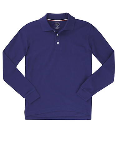 Boys 4-7 Long Sleeve Pique Polo School Uniform at Rainbow Shops in Jacksonville, FL | Tuggl