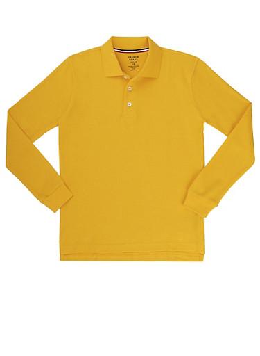 Boys 4-7 Long Sleeve Pique Polo School Uniform at Rainbow Shops in Daytona Beach, FL | Tuggl