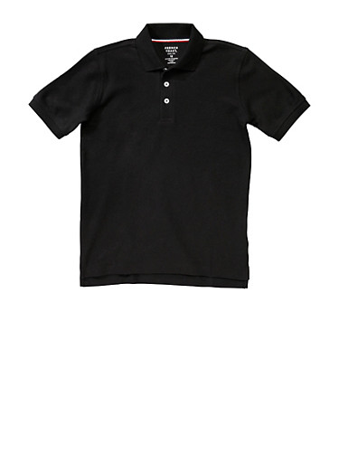 Boys 8-14 Short Sleeve Pique Polo School Uniform,BLACK,large