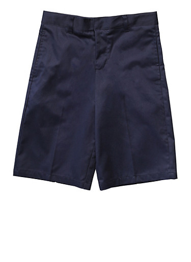 Boys 8-14 Flat Front Adjustable Waist Shorts School Uniform at Rainbow Shops in Daytona Beach, FL | Tuggl