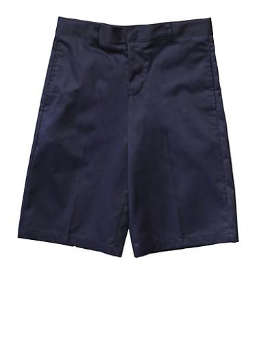 Boys 16-20 Flat Front Adjustable Waist Shorts School Uniform at Rainbow Shops in Daytona Beach, FL | Tuggl