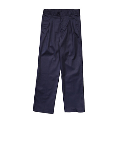 Boys 16-20 Adjustable Waist Pleated Double Knee Pants School Uniform at Rainbow Shops in Daytona Beach, FL | Tuggl
