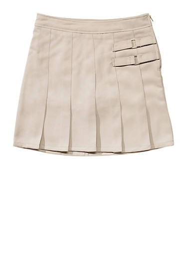 Girls 2T-4T Two Tab Scooter School Uniform,KHAKI,large
