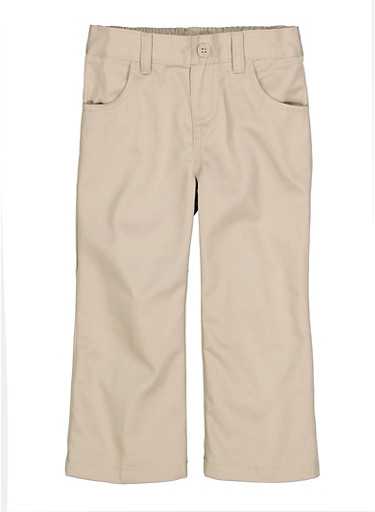 Girls 2T-4T Pull On School Uniform Pants,KHAKI,large