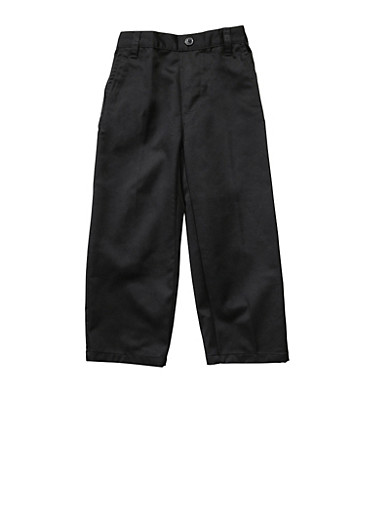 Boys 2T-4T Adjustable Pull-On Pants School Uniform,BLACK,large