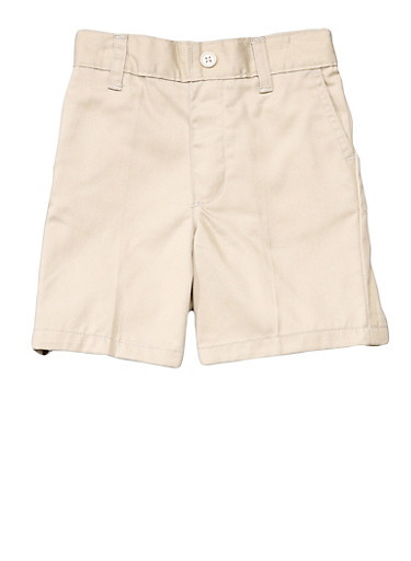 Boys 2T-4T Pull-On Shorts School Uniform,KHAKI,large