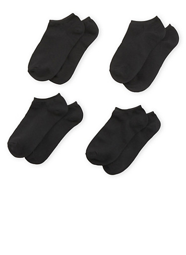 Ankle Socks 4 Pack,BLACK,large