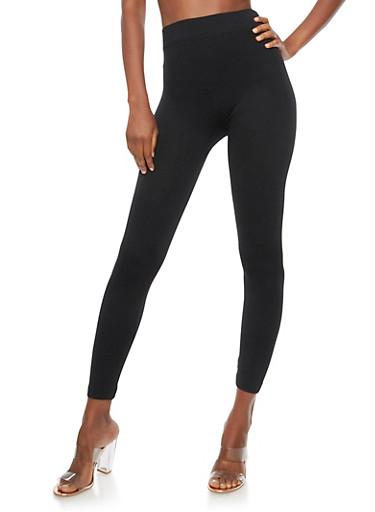 Black Spandex Leggings,BLACK,large