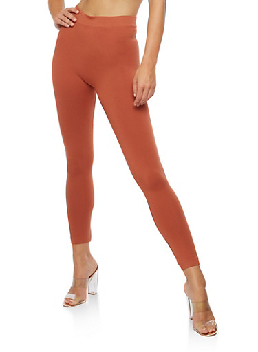 Solid Leggings,RUST(ARAGON),large