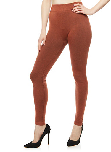 Terry Lined Leggings,RUST  (ARAGON),large