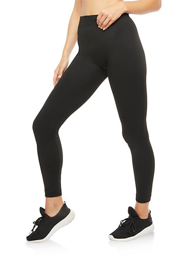 Fleece Lined Leggings,BLACK,large