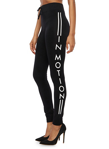Motion Graphic Activewear Joggers,BLACK,large