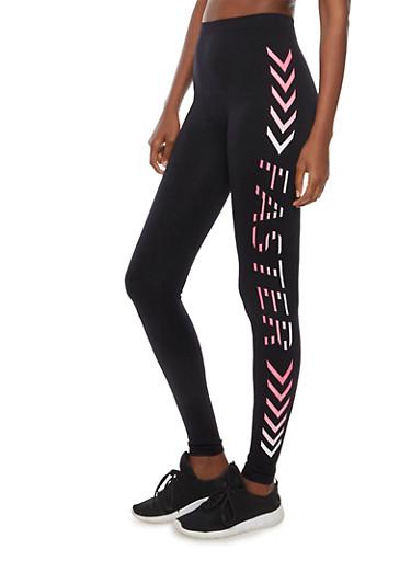 Faster Active Leggings,BLACK,large
