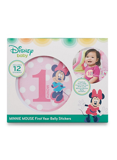 Baby Girl Minnie Mouse First Year Belly Stickers,RED,large