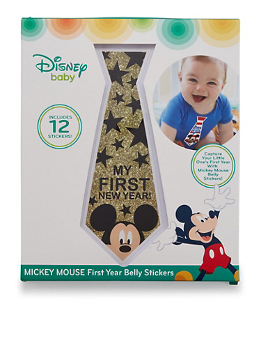 Baby Boy Mickey Mouse First Year Belly Stickers,BLUE,large