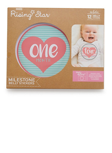 Baby Milestone Belly Stickers,PINK,large