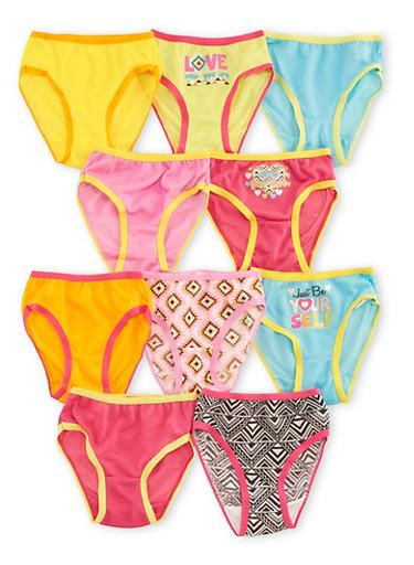 Toddler Girls 10-Pack Bikini Panties,MULTI COLOR,large