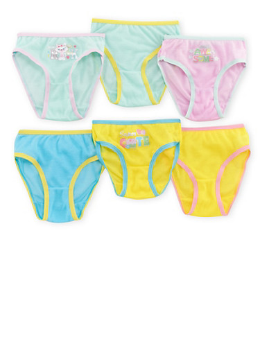 Toddler Girls Assorted Panty 6-Pack,MULTI COLOR,large
