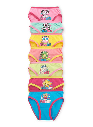 Toddler Girls Days of the Week Panties 7-Pack,MULTI COLOR,large