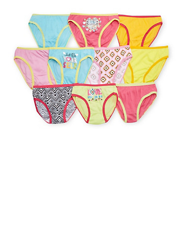 Girls 4-14 10 Pack of Assorted Panties,MULTI COLOR,large