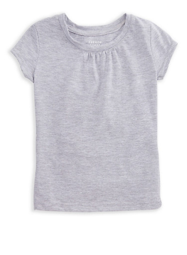 Girls 4-6x French Toast Solid Ruched Short Sleeve T Shirt at Rainbow Shops in Daytona Beach, FL | Tuggl