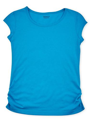 Girls 7-16 French Toast Short Sleeve Tee,BLUE,large