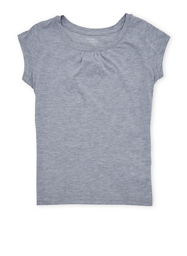 Girls 7-16 French Toast Heather Gray T Shirt,HEATHER,large
