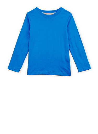 Boys 4-7 French Toast V Neck Top with Long Sleeves,BABY BLUE,large