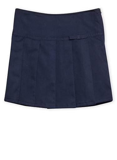 Girls 4-6x French Toast Pleated Skort School Uniform,NAVY,large