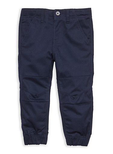 Boys 4-7 Twill Jogger Pant School Uniform,NAVY,large