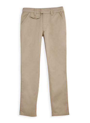 Girls 4-6x Adjustable Waist School Uniform Pants,KHAKI,large