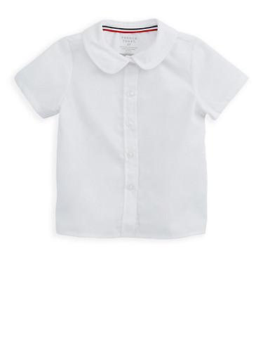 Girls 2T- 4T Short Sleeve Peter Pan Blouse School Uniform at Rainbow Shops in Daytona Beach, FL | Tuggl