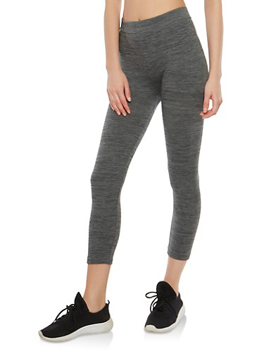 Cropped Activewear Leggings,CHARCOAL,large