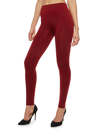 Red Fleece Lined Leggings,CRANAPPLE,large
