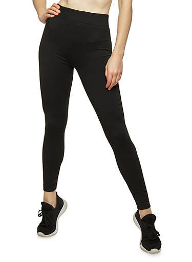 Black French Terry Lined Leggings at Rainbow Shops in Jacksonville, FL | Tuggl